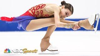 Shcherbakova's costume change, quad, spins, clinch a silver medal | NBC Sports