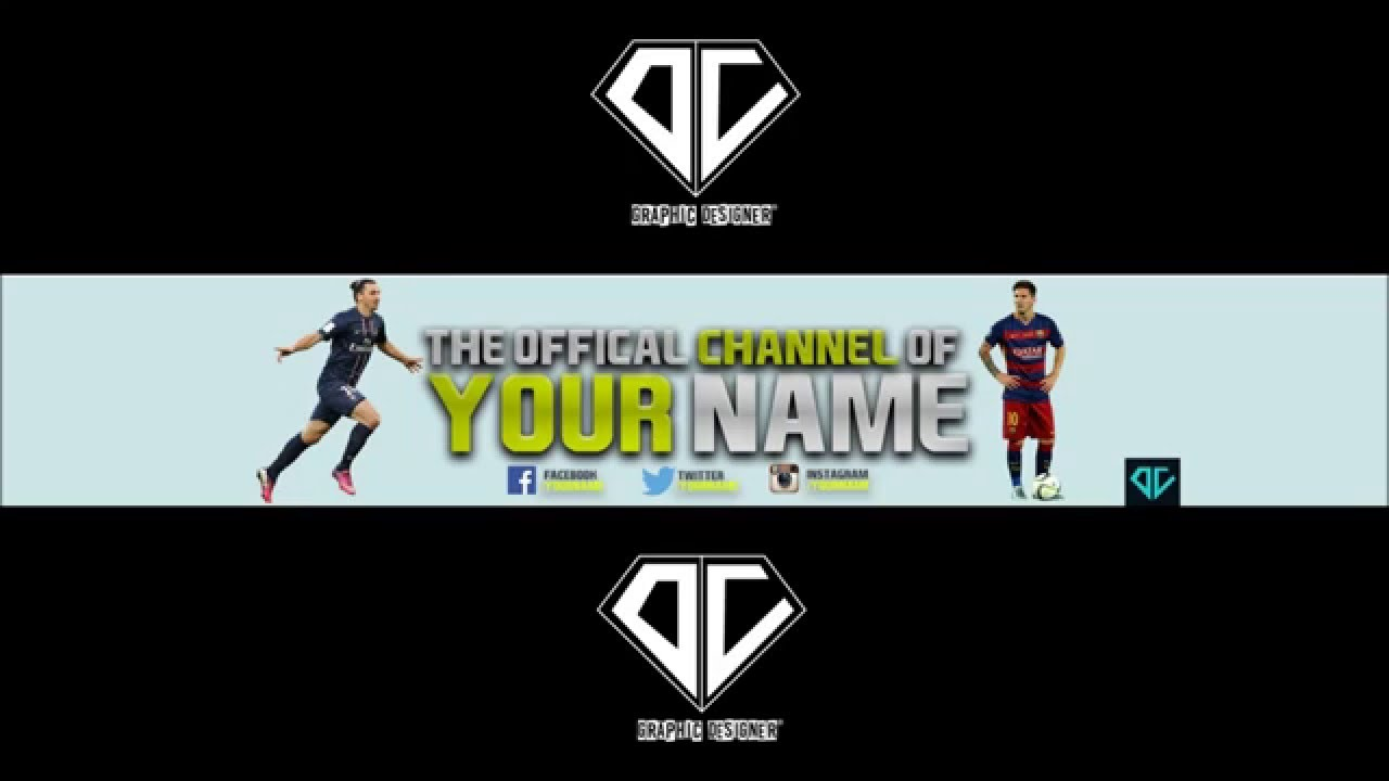 Free Youtube Banner Template Fifa 16 2 Photoshop Youtube