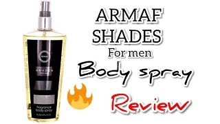 ARMAF SHADES FOR MEN BODY SPRAY REVIEW