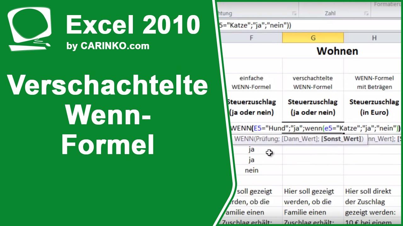 Wenn Excel Formel