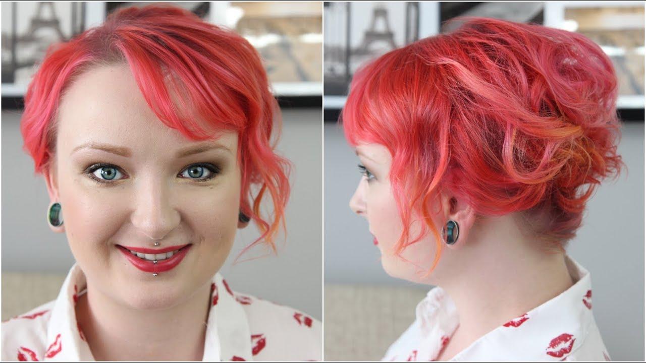 Upięcie Krótkich I Cienkich Włosów Z Red Lipstick Monster