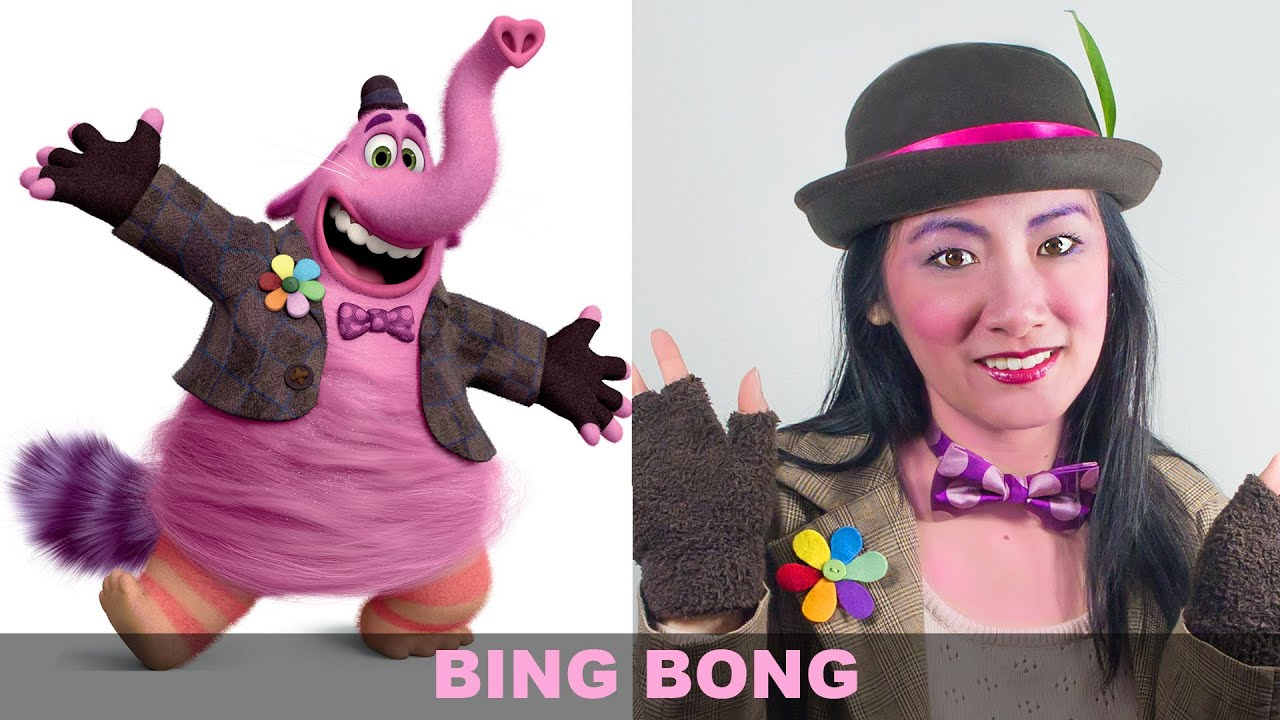 Inside Out BING BONG Make Up And Costume Tutorial DIY
