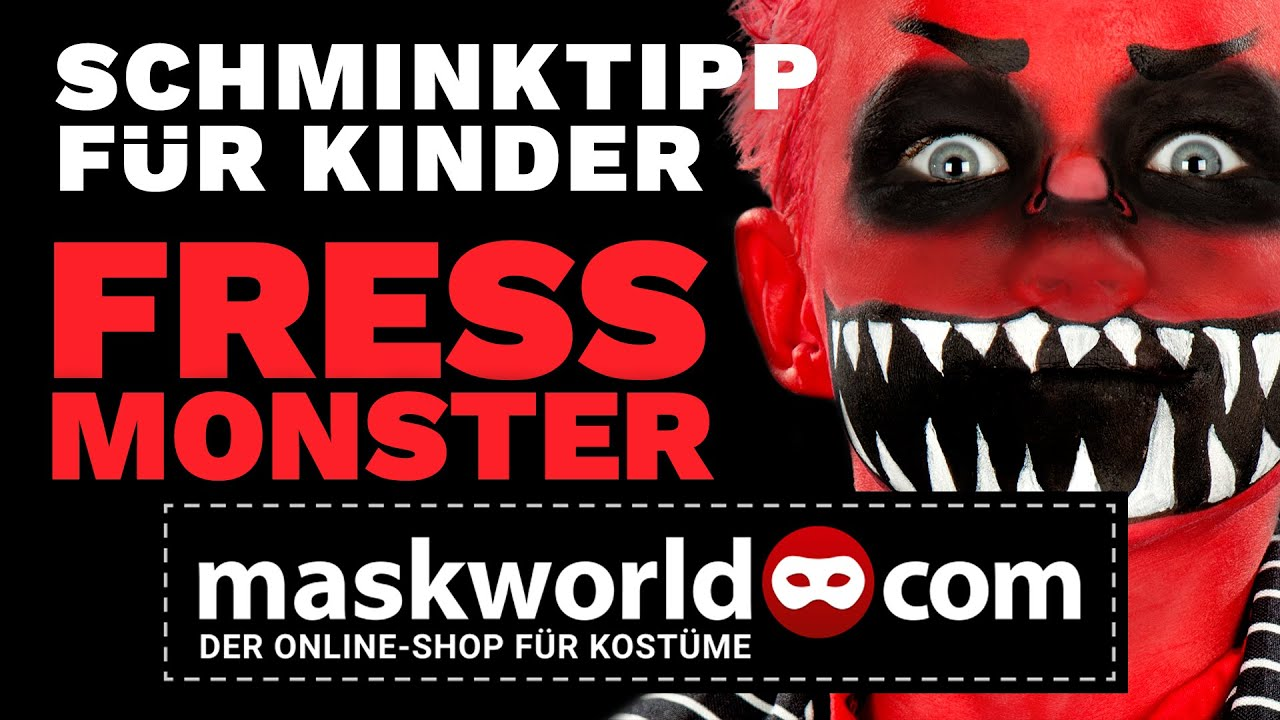 halloween kinderschminken fressmonster schminktipps youtube. Black Bedroom Furniture Sets. Home Design Ideas