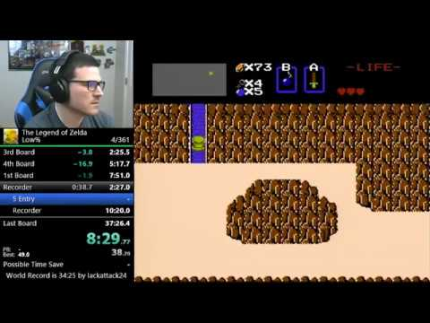 (31:42) The Legend of Zelda - Low% (world record)