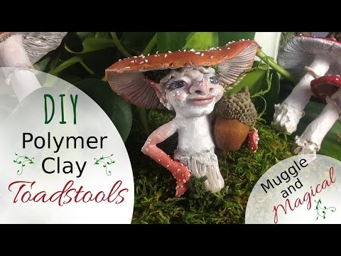 How To Make Polymer Clay Mushrooms; Muggle & Magical DIY Fairy Garden Accessories