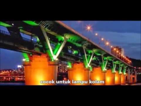 Lampu Kolam Led Floodlight Warna Warni Youtube
