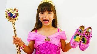 Laurinha quer ser uma princesa da Disney - Laurinha wants to be a Disney Princess for kids