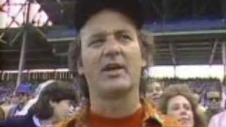 Bill Murray Almost Sings National Anthem at Wrigley Field 1984