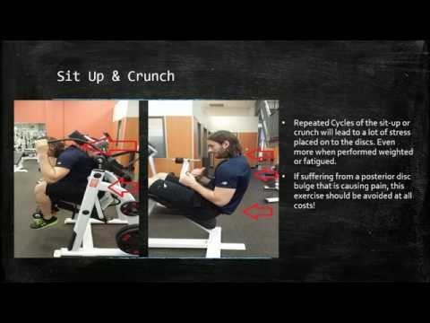Exercises to Avoid for a Disc Bulge or Disc Herniation
