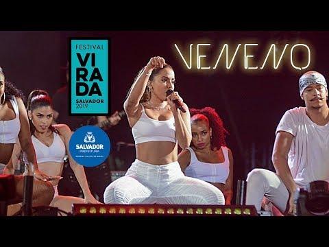 Anitta quebra tudo com VENENO ao vivo no Festival da Virada em Salvador   30122018