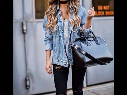 Black jean jacket fashion