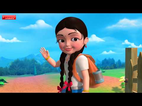 Getting Ready for School | Hindi Rhymes for Children | Infobells