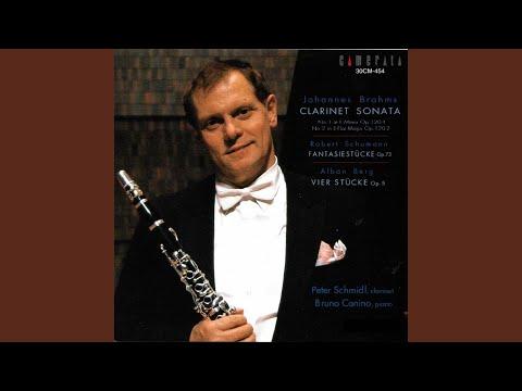 Vier Stücke Für Klarinette Und Klavier, Op. 5: No. 4, Sehr Langsam
