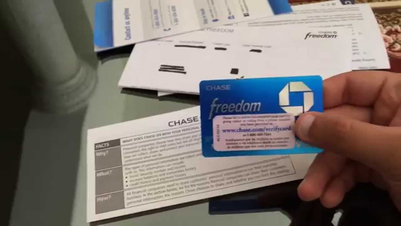 Chase Freedom Unboxing