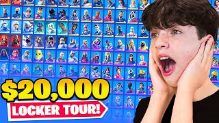 Our $20,000 Fortnite LOCKER TOUR! *OG Rare Skins*