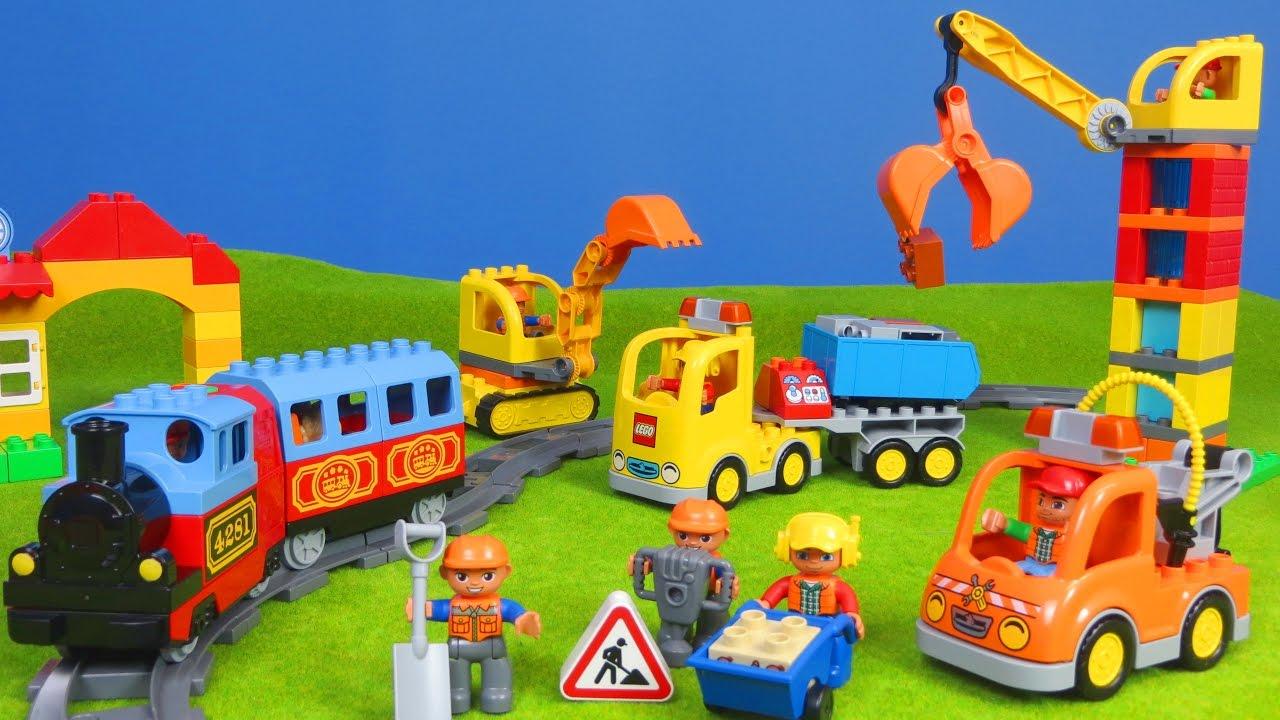 bagger lastwagen z ge kran spielzeugautos lego. Black Bedroom Furniture Sets. Home Design Ideas