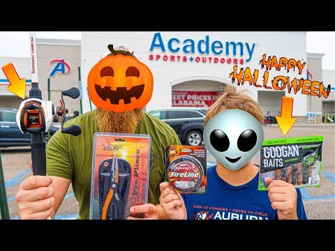 Halloween Gear ONLY Fishing Challenge (Rod, Reel, Line, Lures)