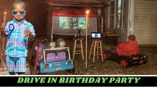 2 YEAR OLD DRIVE IN MOVIE PARTY!