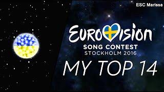 Eurovision 2016 l MY TOP 14 l So far (21/02/16)(Welcome to my Top 14 of Eurovision 2016 so far! :) ║ ALL SONGS ║ Albania: Eneda Tarifa - Përrallë Austria: Zoë - Loin d'ici Belarus: Ivan - Help you fly ..., 2016-02-21T21:30:02.000Z)