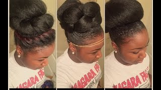 How to: 3 High Bun Styles for Natural Hair