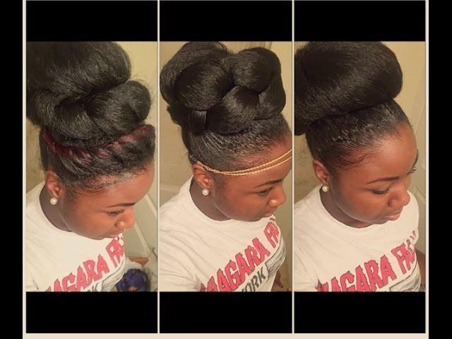 How To 3 High Bun Styles For Natural Hair Clipfail Com