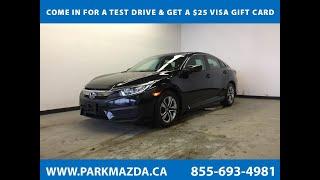 BLACK 2017 Honda Civic Sedan  Review Sherwood Park Alberta - Park Mazda
