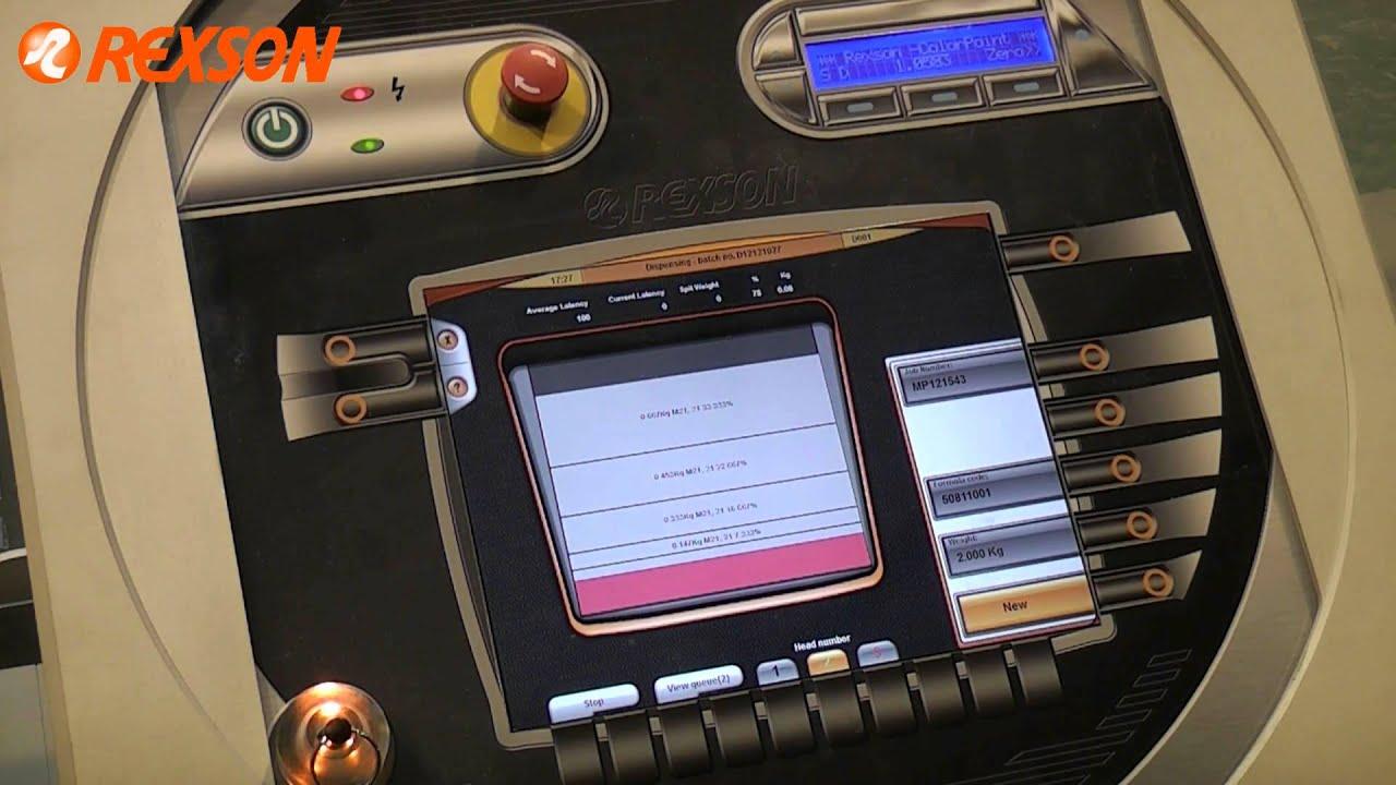 Rexson Colorpoint Ink Dispenser Showing Dosing Valve