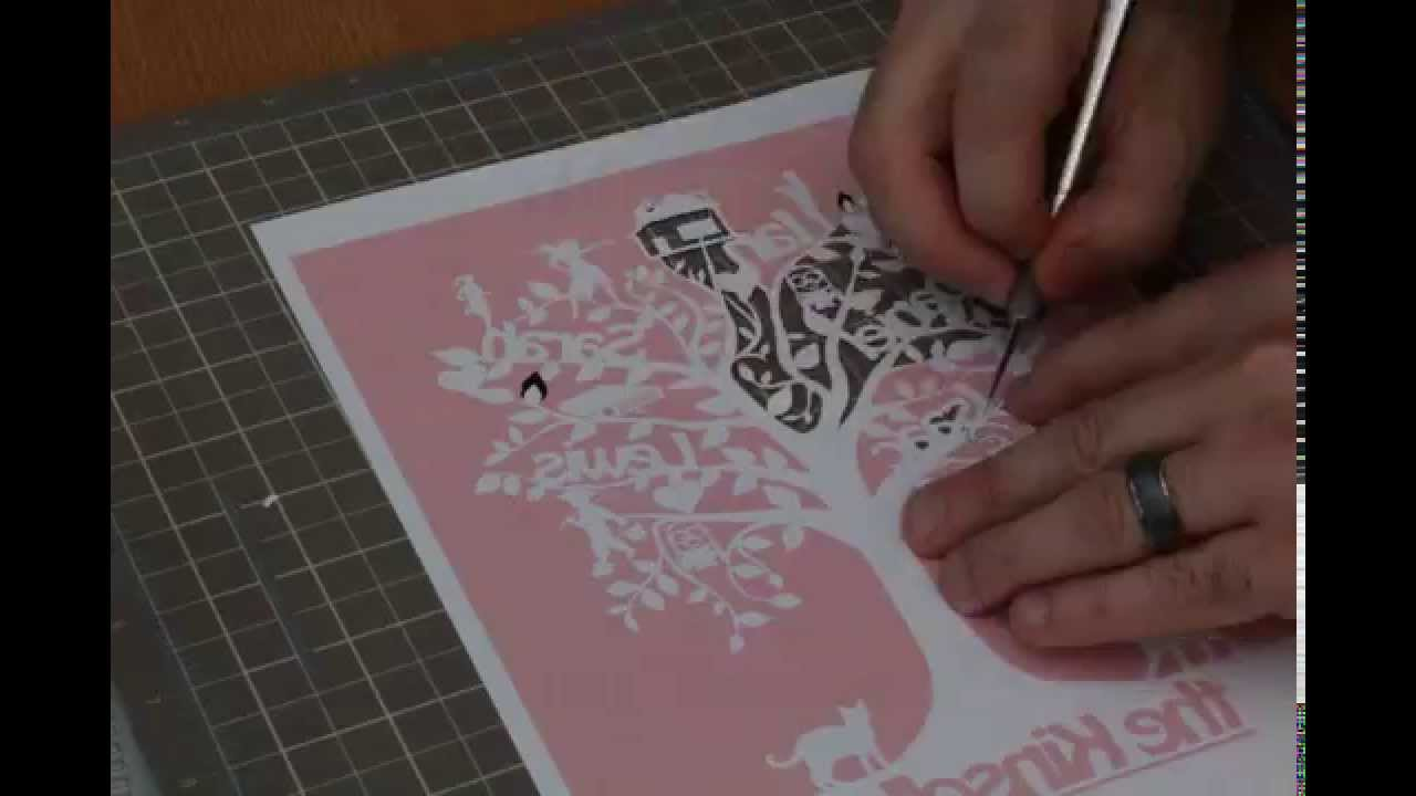 Family Tree Time Lapse Paper Cut Youtube
