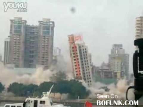 Skyscraper Demolition FAIL Video.flv