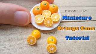 Miniature Polymer Clay Orange Cane Tutorial - Dollhouse Food