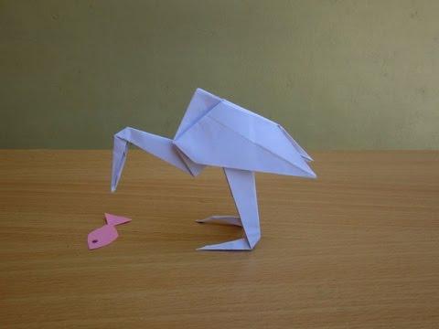 How To Make A Paper Flamingo Easy Tutorials Youtube
