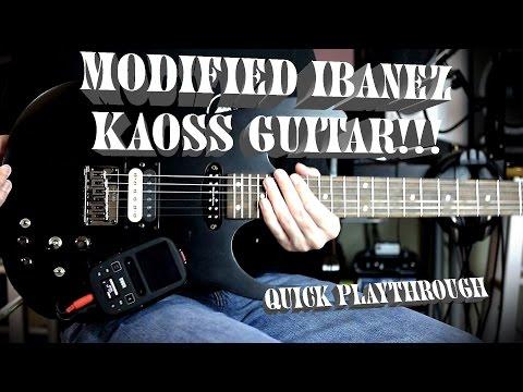 Modified Ibanez RGKP6 Kaoss Guitar!!!!! (Playthrough)