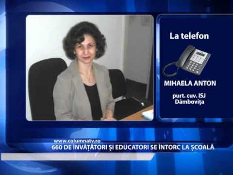 660 DE ÎNVĂȚĂTORI ȘI EDUCATORI SE ÎNTORC LA ȘCOALĂ. (Columna Tv)