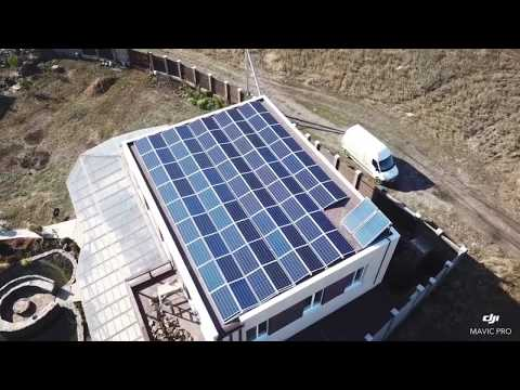 Солнечные панели на крыше. Балластная система крепления для солнечных панелей. Зеленый тариф 2020