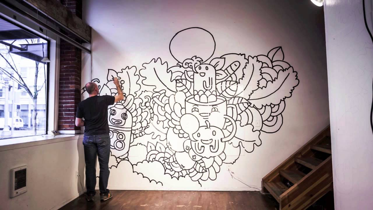 time lapse andy lunday mural youtube