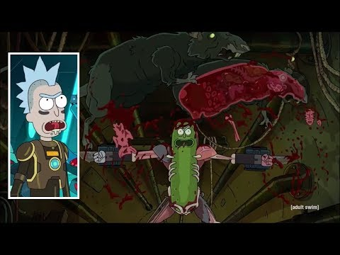 Rick and Morty - Rick's body transformation scenes