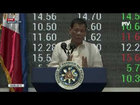 Talumpati ni Pres. Duterte sa 10th listing anniversary ng PNX sa PSE
