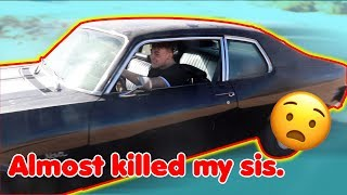 Almost Killed My Sister In My 67 Year Old Car!!! ~ Muscle car offroading