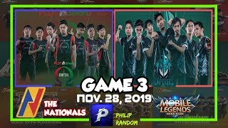 [GAME 3] PSO VS HFE | THE NATIONALS ML CONFERENCE 2 | DAY 11 | Mobile Legends