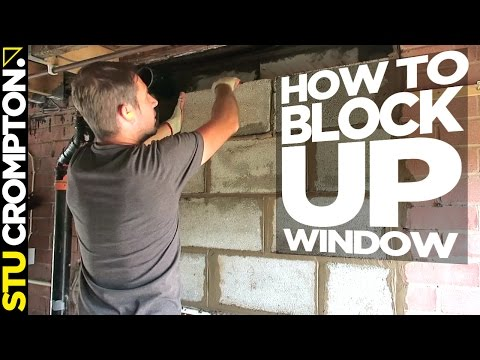 how to block up window. bricklaying tutorial