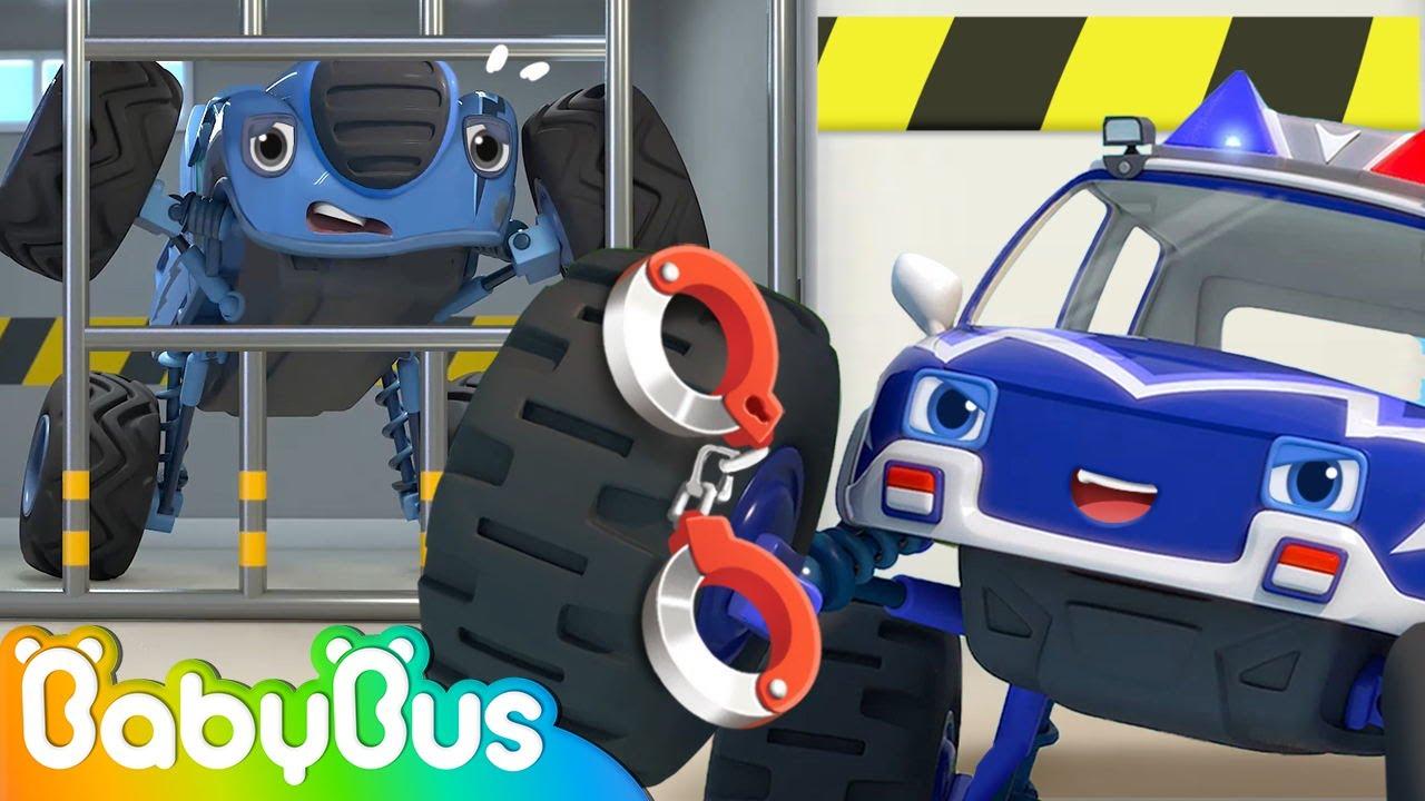 Monster Police Car is Here to Help | Fire Truck, Ambulance🚒🚑 | Nursery Rhymes | Kids Songs | BabyBus