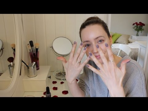 ASMR Nail Filing & Nail Polish Application | Whisper