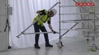 Opasvideo Instant UpRight -alumiinitelineen kasaamisesta / Cramo