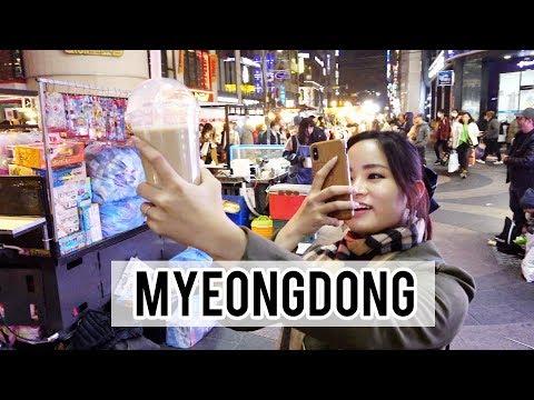 Exploring Myeongdong Night Street Markets | Korea Day 3