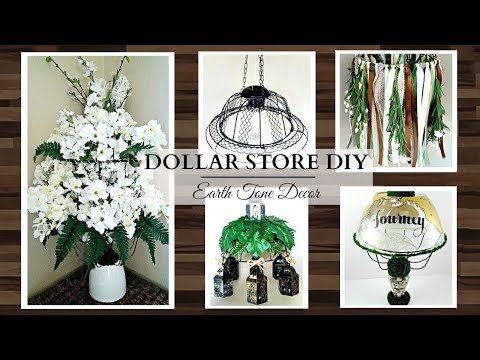 Dollar Store DIY'S ~ EARTH TONE Home Decor Crafts ~ Cute & Affordable!