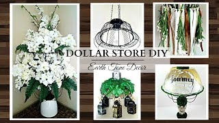 Dollar Store DIY'S ~ 1 Basket, 5 Different Ways! ~ EARTH TONE Home Decor Crafts ~ Cute & Affordable!
