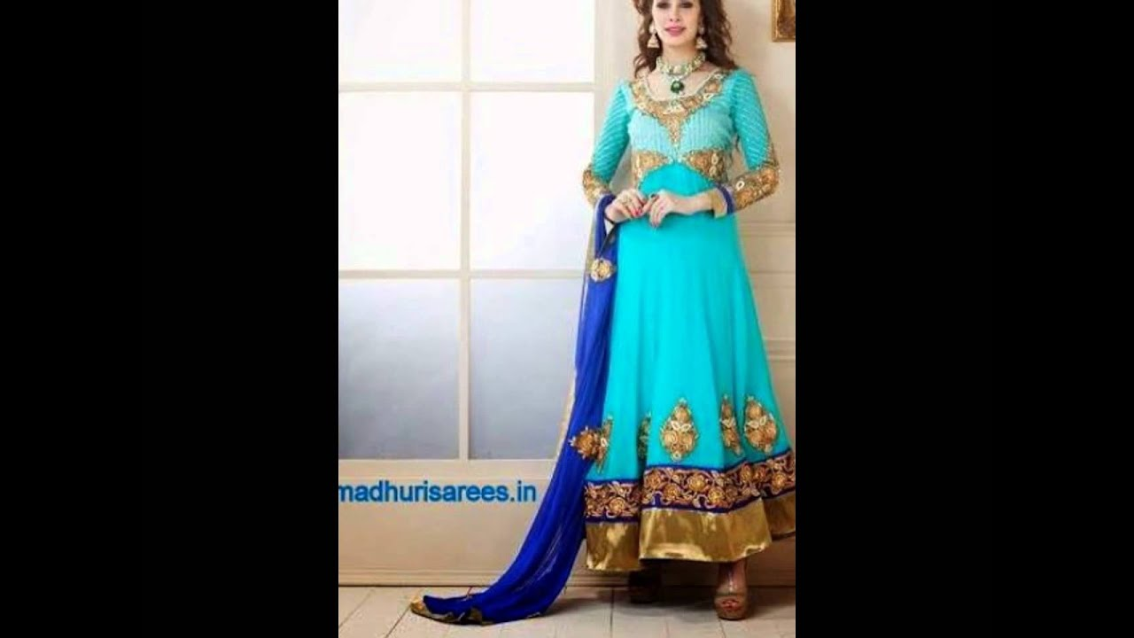 109f978eed #Semi #Stitched #Anarkali #Dresses in #Mumbai #Malad west madhurisarees.in  9820293151