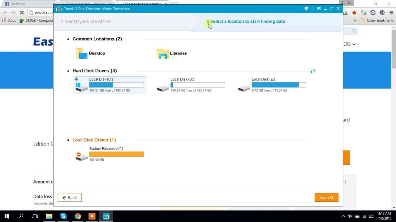 download easeus data recovery wizard free edition 5.0.1 full crack
