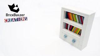 LEGO MOC BOOKSHELF | 85pcs | Brick Builder Creations