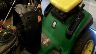 quick work on a John Deere L120 tractor
